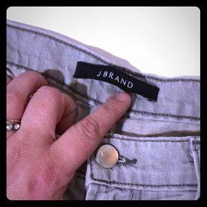 Size 26 jbrand light gray straight leg